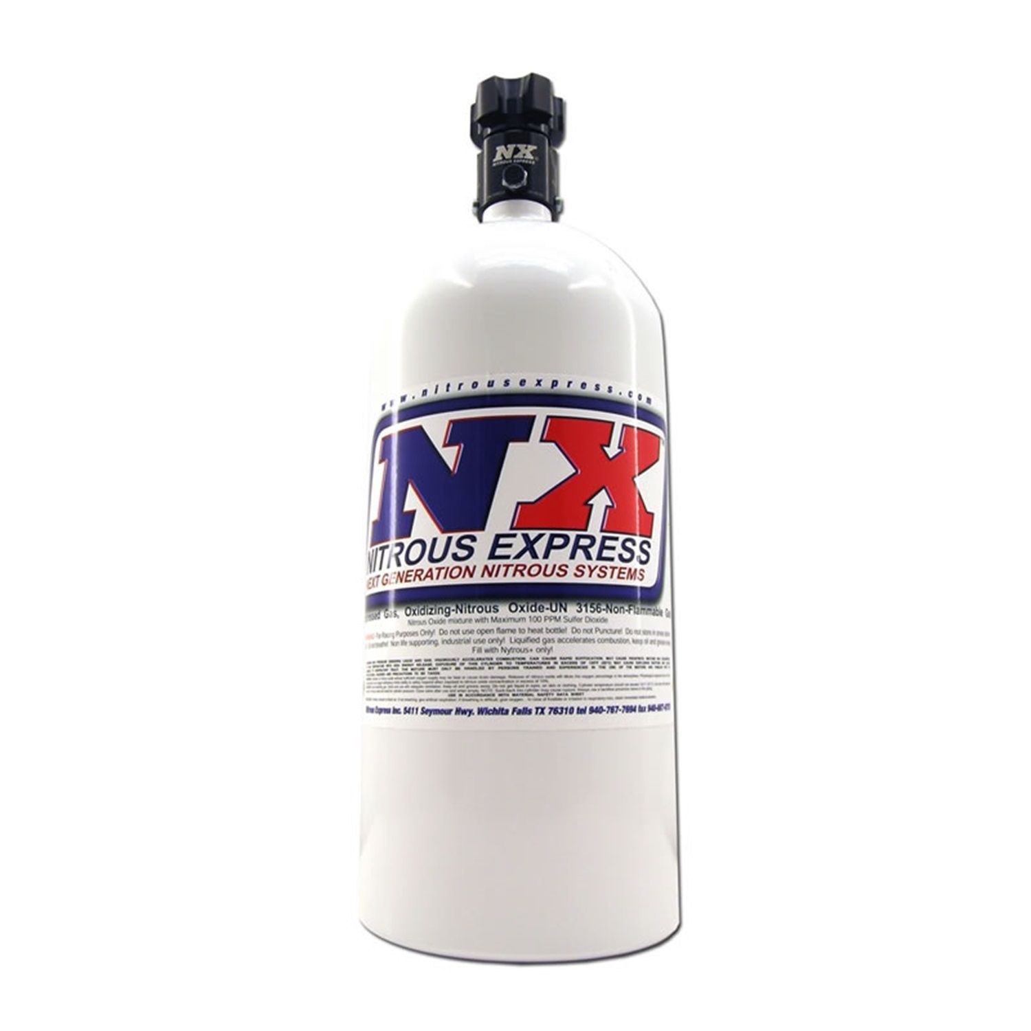 Nitrous Express 10 LB BOTTLE W/ LIGHTNING 45 VALVE