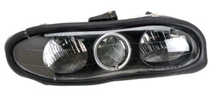 98-02 Camaro Anzo Halo Front Head Lights w/Clear Lens - Black Housing