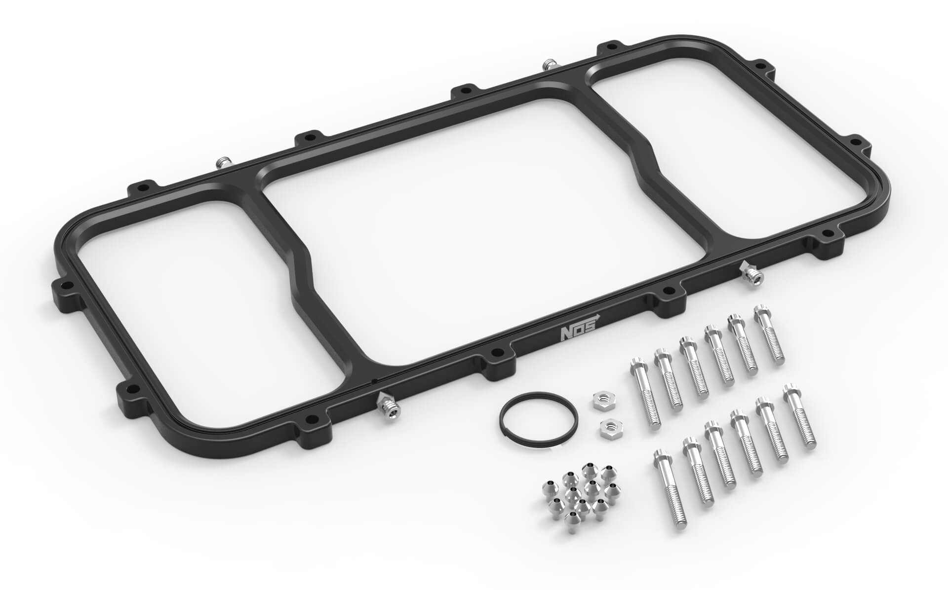 NOS Dry Nitrous Spacer Plate for Holley LS Hi-Ram EFI Intake Manifolds - Black