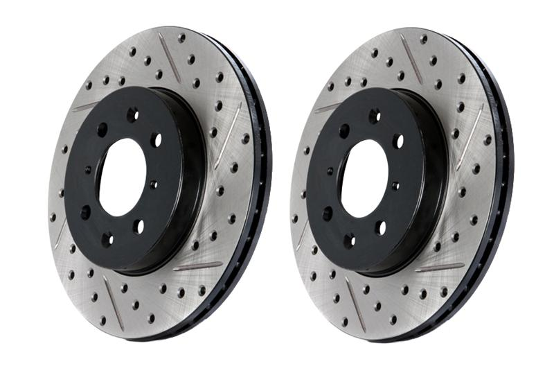 98-02 LS1 Fbody Stoptech Drilled & Slotted Brake Rotor - Front Left