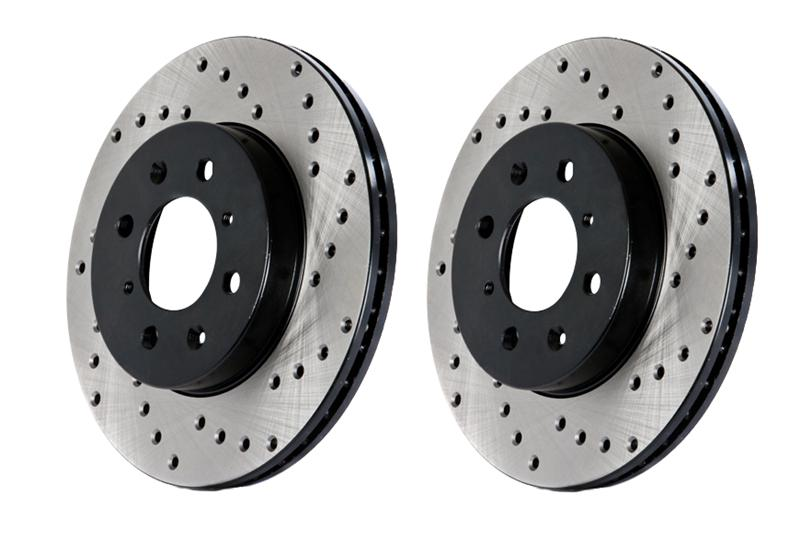 98-02 LS1 Fbody Stoptech Cross Drilled Brake Rotor - Rear Left
