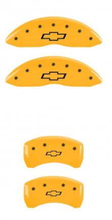 98-02 Camaro Yellow Bowtie MGP Caliper Covers