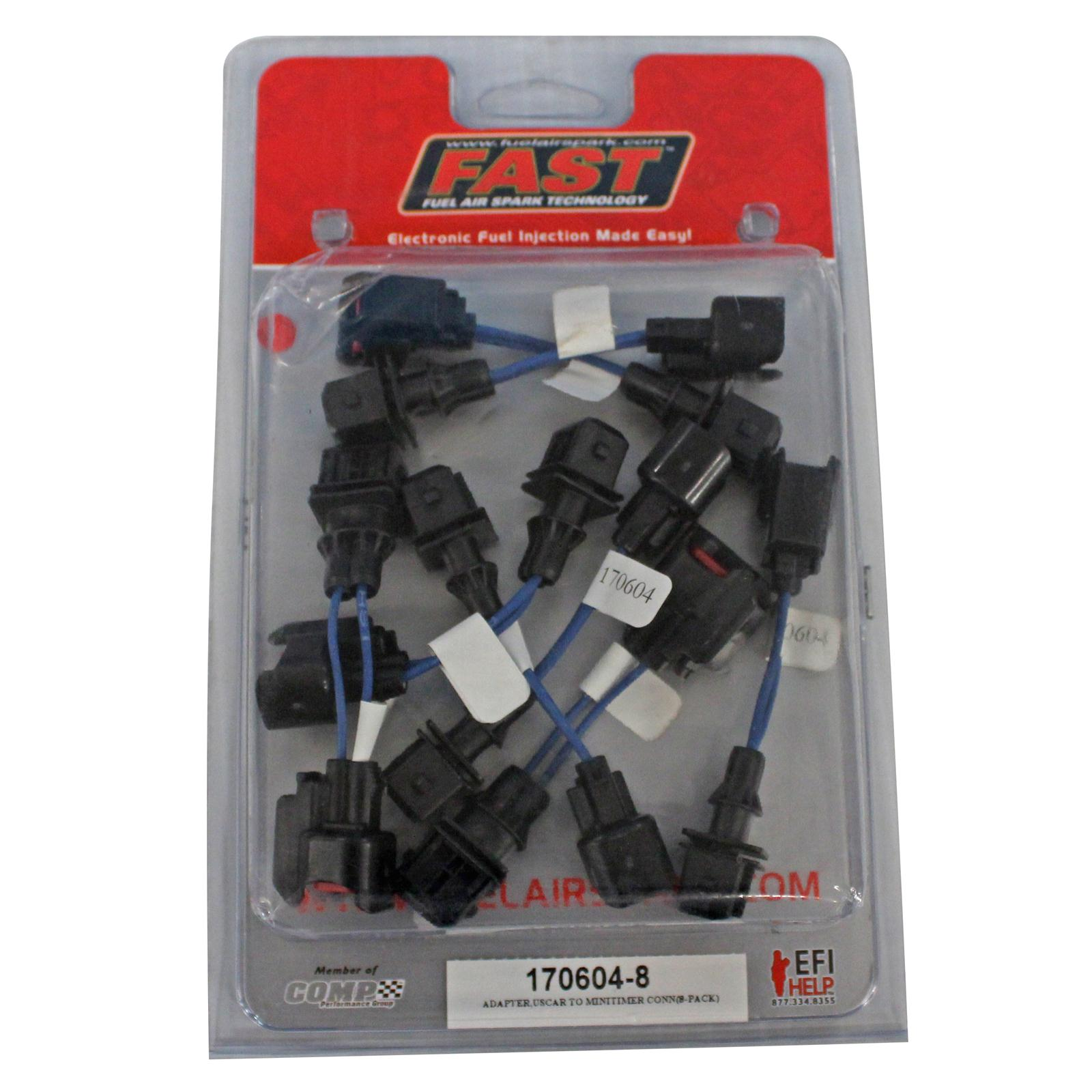 FAST Fuel Injector Adapter Harness (EV6-EV1-8 Pack)