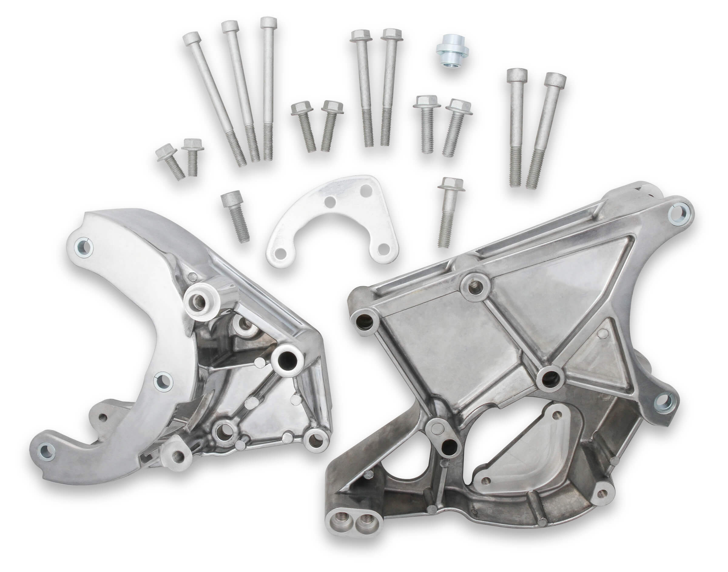 Holley LS Series Accessory Drive Brackets - A/C, P/S, & ALT Brackets (Polished)