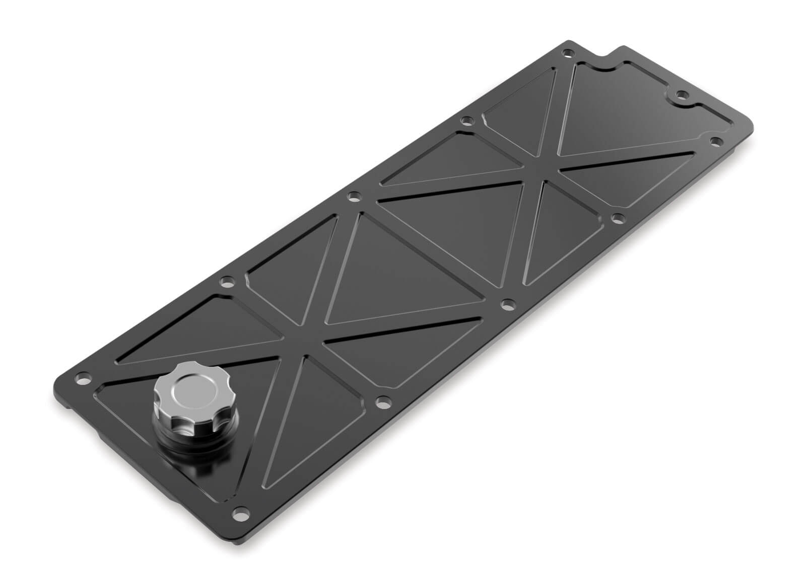 Holley LS2/LS3/LS7/LSX Valley Cover with Oil Fill - Black Billet