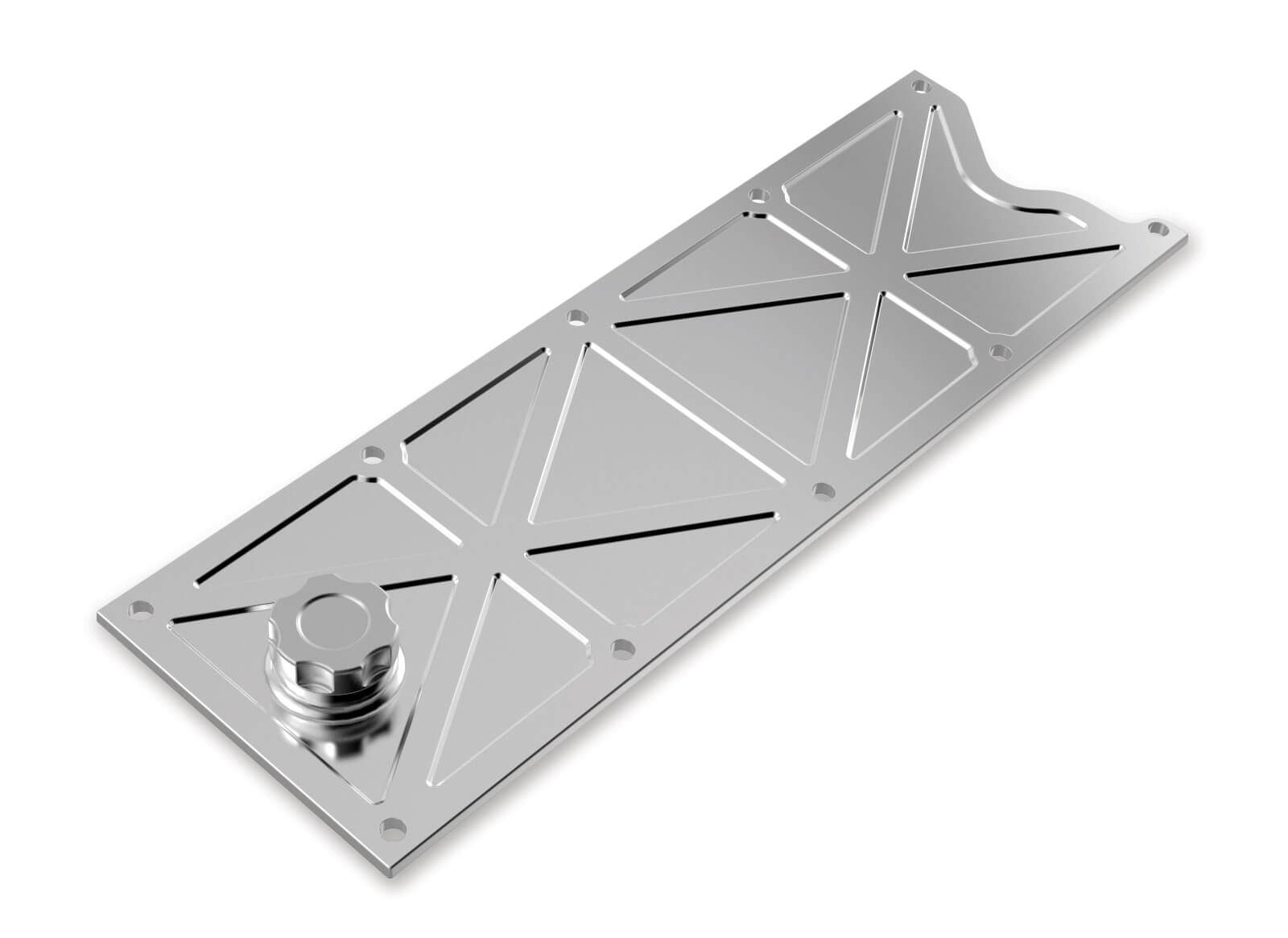 Holley LS1/LS6 Valley Cover with Oil Fill - Polished Billet