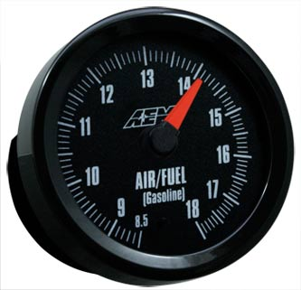 AEM Wideband Air/Fuel Gauge 8.5 to 18:1 AFR w/Analog Face