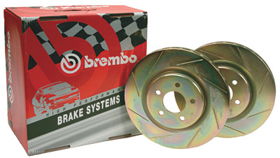 98-02 LS1/V6 Brembo Rear Slotted Rotors (Pair)