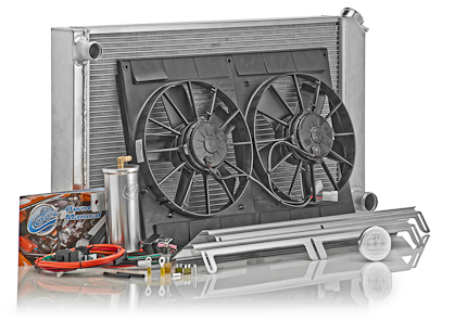 93-02 LS1/LT1 Fbody BeCool Aluminum w/Natural Finish Power Cooling Direct Fit Modules (Automatic Transmission) - 700hp