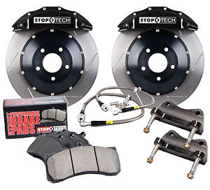 98-02 Fbody Stoptech Front Big Brake Kit w/ST-40 Black Calipers & 332x32mm Slotted Rotors