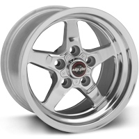 "93-02 F-body Race Star Industries 92 Drag Star Polished Wheels (15"" x 10"") w/-7.25"" Back Spacing"