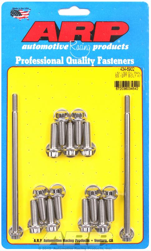LS1/LS2 ARP Oil Pan Bolt Kit (12 Point)