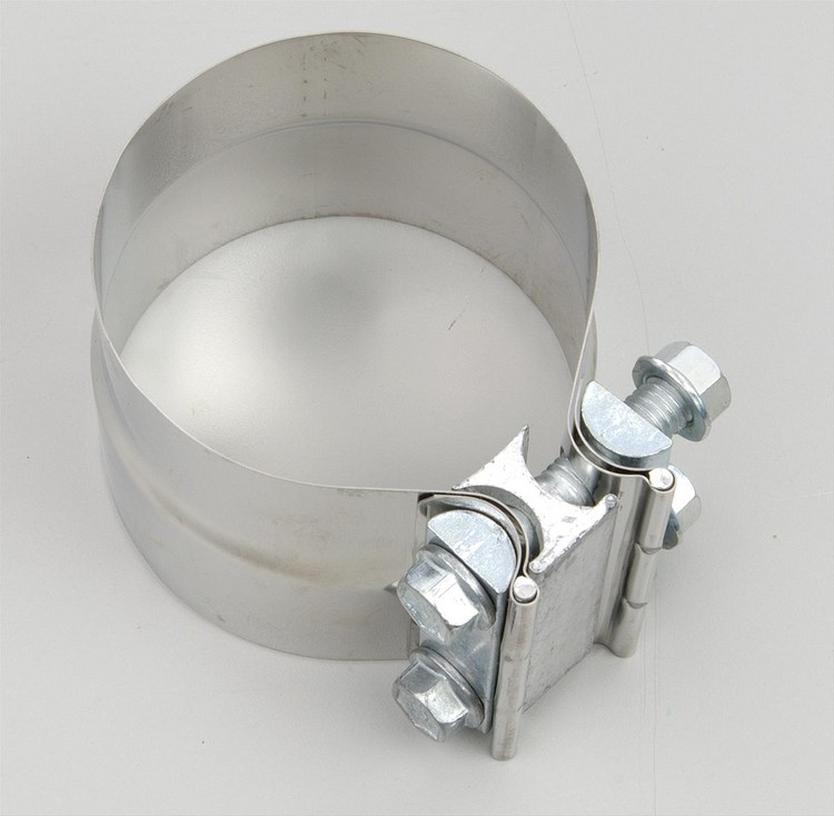 "Dynomax Polished Stainless Steel 3"" Diameter Band Clamp"