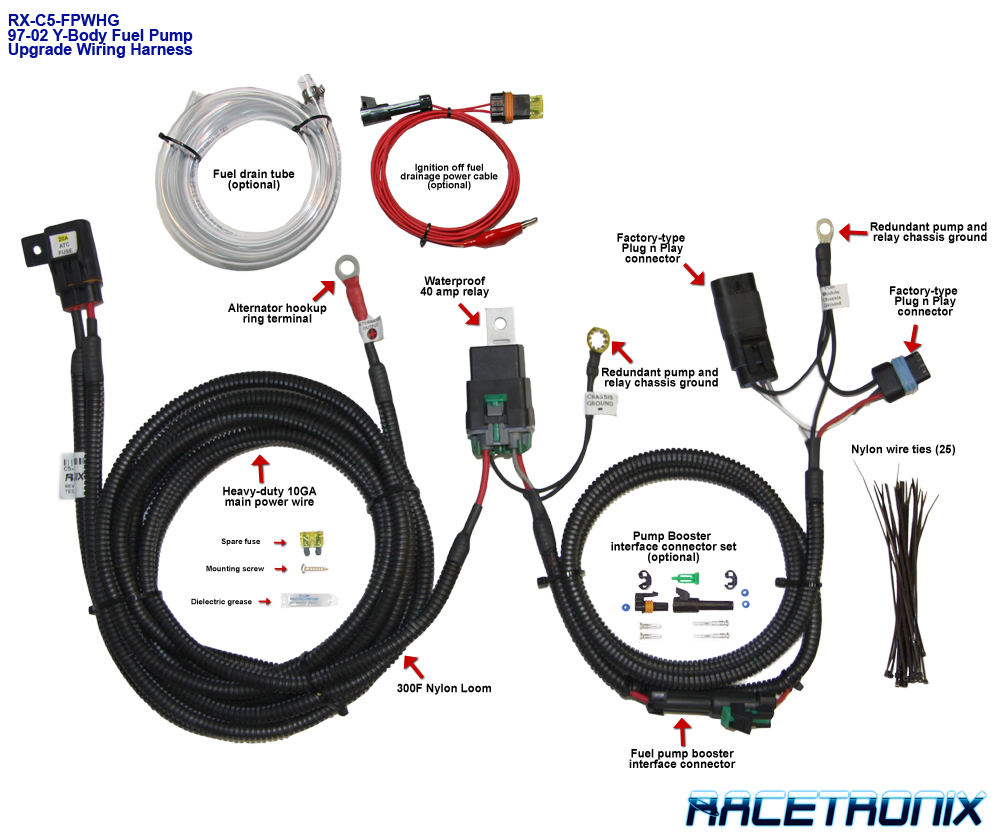 97-03 Corvette C5 Racetronix Fuel Pump and Wiring harness