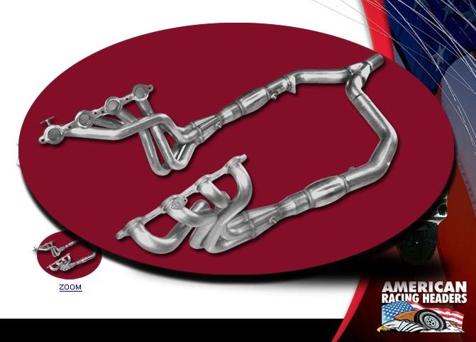 "98-02 LS1 Fbody 1-7/8"" x 2"" x  3-1/2"" American Racing Headers w/o AIR & EGR Fittings - Race Headers Only"