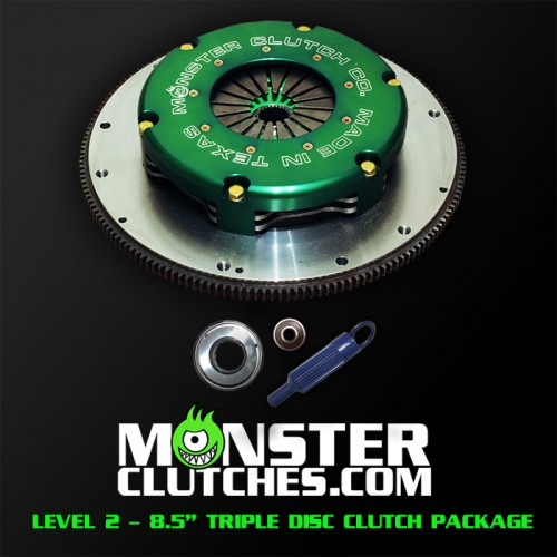 "Monster Clutch LSX Level 2 8.5"" Triple Disc Fbody Clutch - 1500rwhp/rwtq"