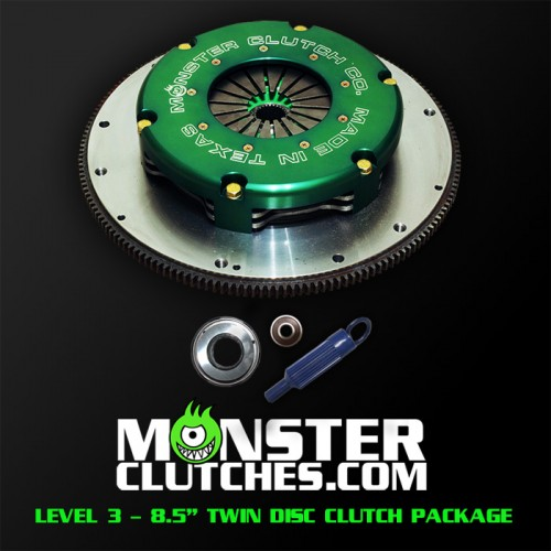 "Monster Clutch Level 3 8.5"" Twin Disc Fbody Clutch - 1500 hp/tq"