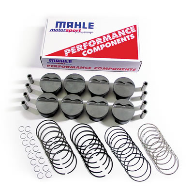 LS1/LS2/LS6 Mahle Forged Inverted Dome Pistons Pistons and Plasma-Moly Ring Kit (3.905 in. Bore for 6.125 in. Rods, -16cc)