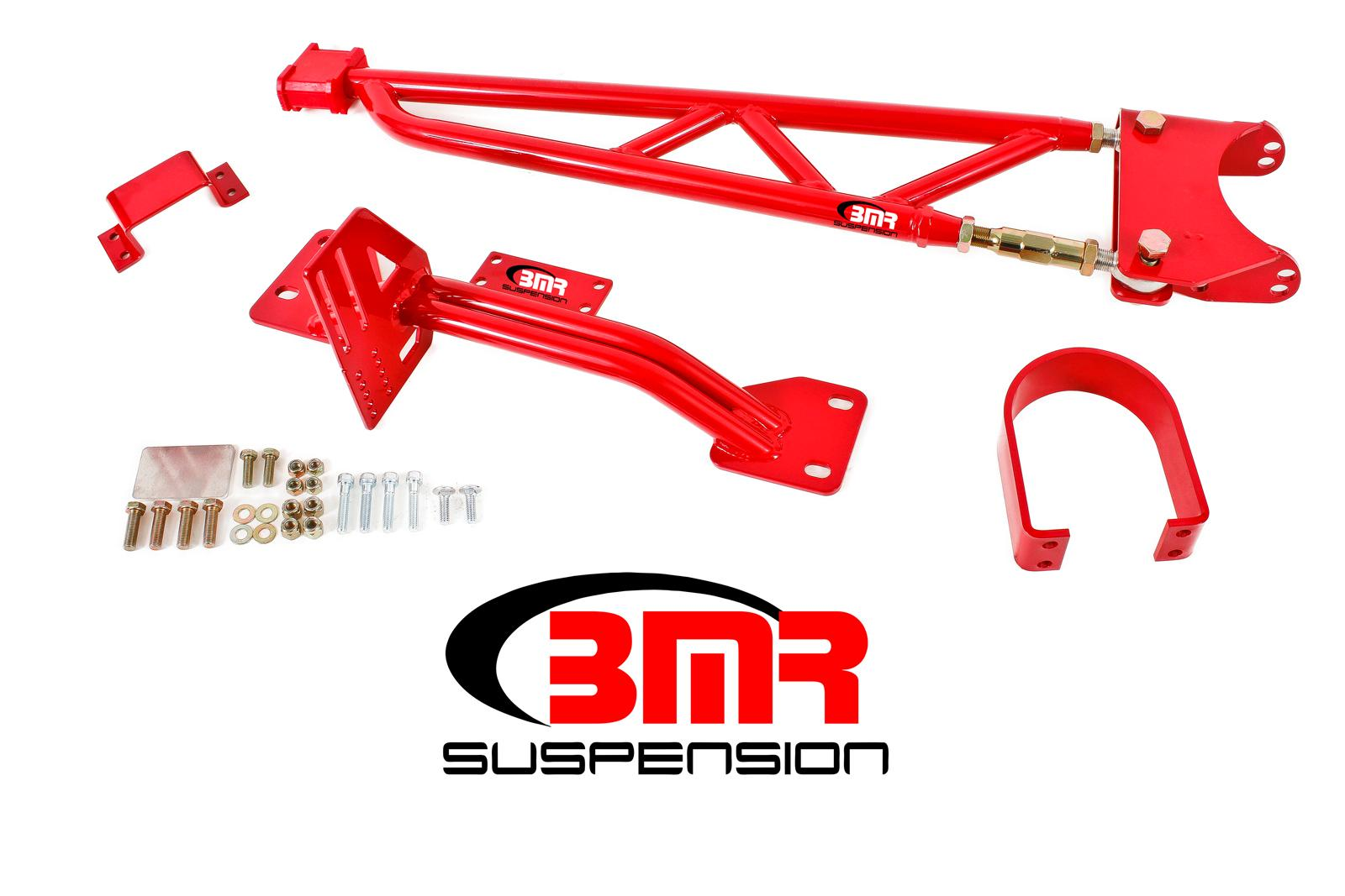 93-02 Fbody BMR Suspension Tunnel Mount Torque Arm w/Driveshaft Safety Loop  - For Long Tube Headers