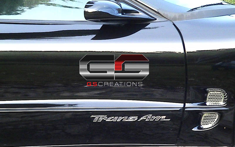 93-02 GSCreations Acrylic Mirror Door TransAm Letter Overlays