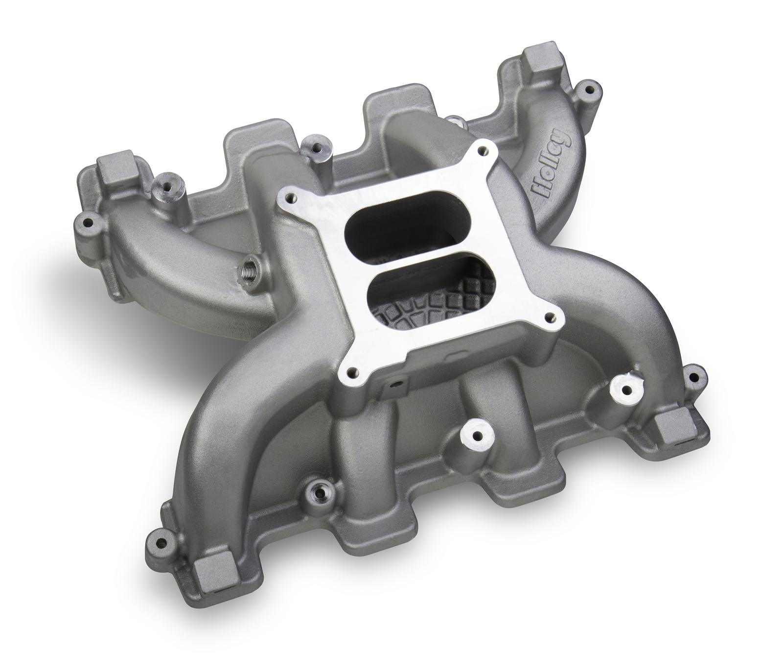 LS1/LS2/LS6 Holley Dual Plane Mid Rise Single Carb Intake Manifold