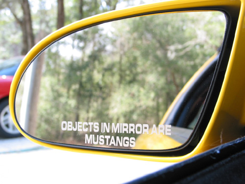 "Vinyl Side Mirror ""Objects in Mirror..."" Decal"