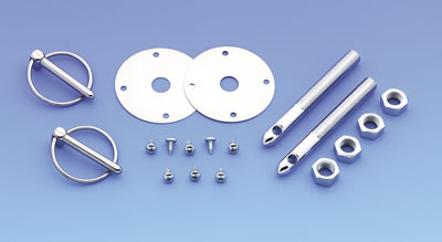 "Mr. Gasket Hood and Deck Pins (Torsion Pin Style 4"")"