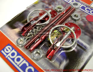 Sparco Hood Pins - Red