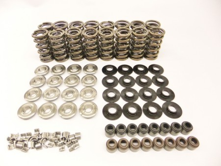 "LS Series Brian Tooley Platinum Dual Valve Spring Kit w/ Titanium Retainers (.660"" Lift)"